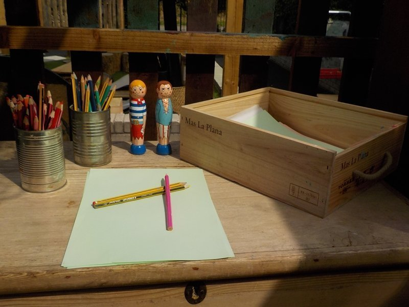 Writing area at Potley Hill Preschool